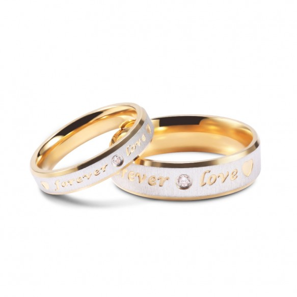 Couple Sets Forever Love in Titanium Steel