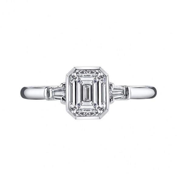Sterling Silver Sona Diamond Wedding Bands