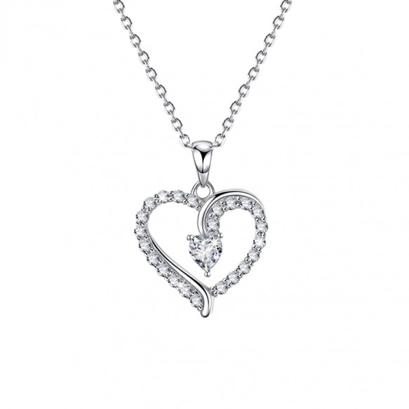 S925 Sterling Silver Micro Inlaid Crystals Necklace