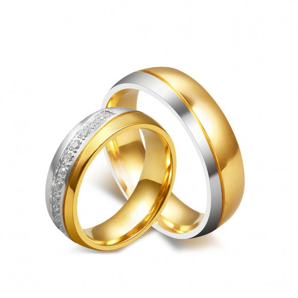 Titanium Steel Matching Couple Rings 6mm