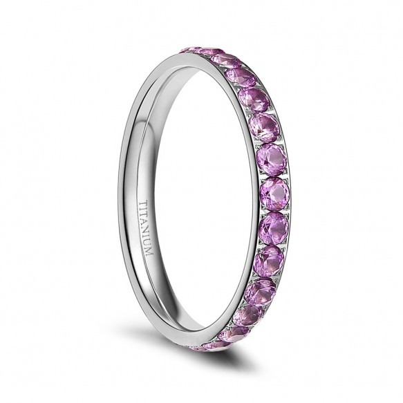 Titanium Rings for Women with CZ