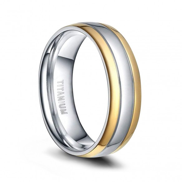 Gold and Silver Titanium Rings