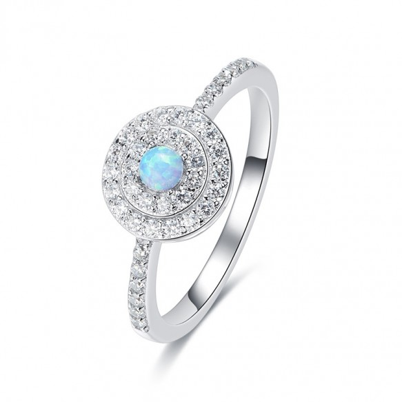 Opal and CZ Rings in Sterling Silver