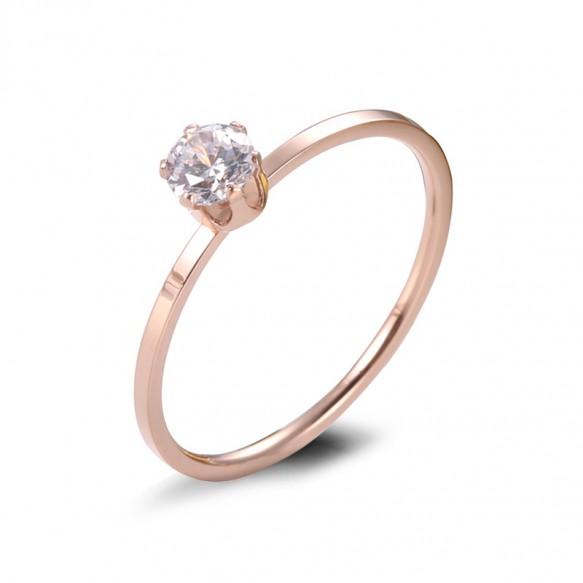 Rose Gold Titanium Steel Ring