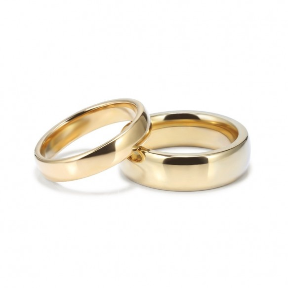 Gold Plated Tungsten Couple Rings