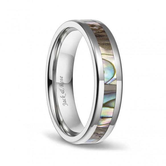 Abalone Shell Titanium Wedding Ring