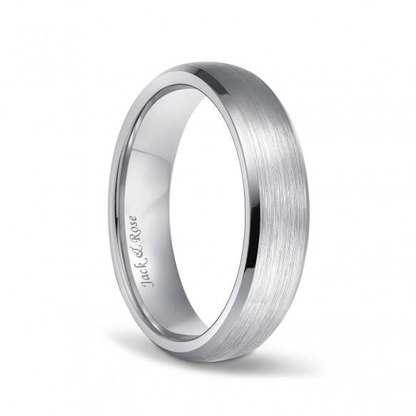 Unisex Beveled Titanium Wedding Rings