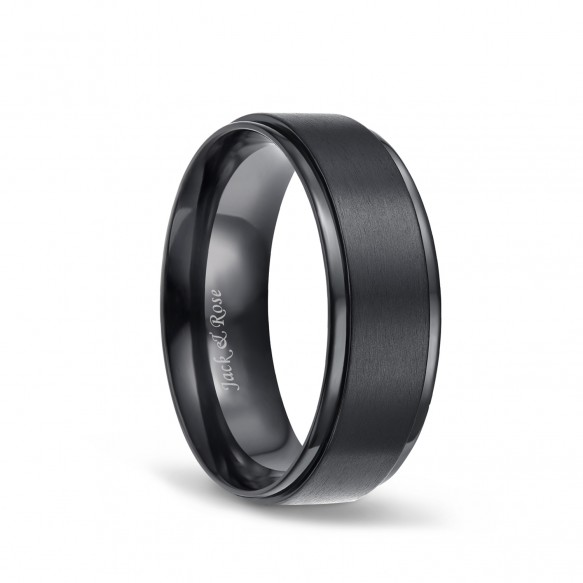 Black Matte Finished Titanium Ring