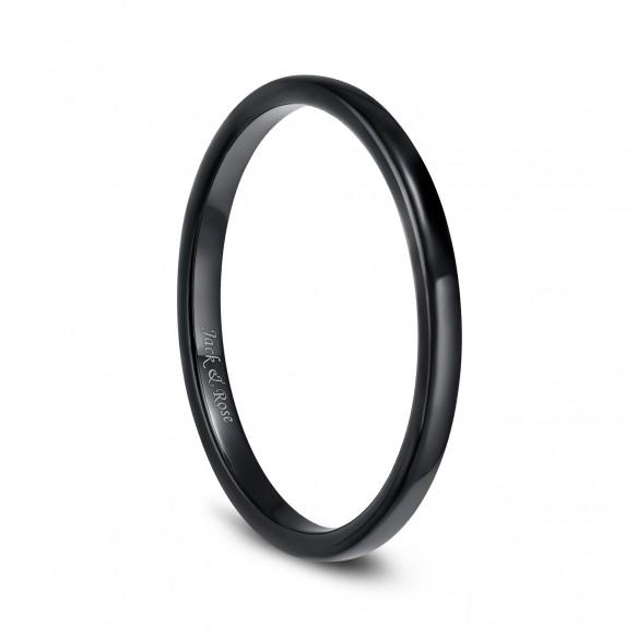 Black High Polished Ceramic Rings