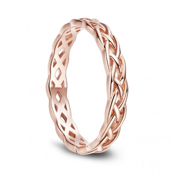 Rose Gold Celtic Knot Sterling Silver Rings
