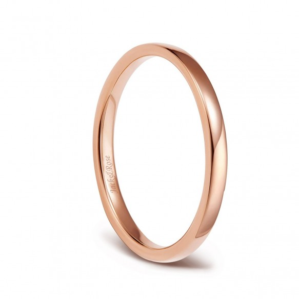 Rose Gold Titanium Engagement Bands