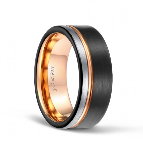 Brushed Tungsten Carbide Wedding Band