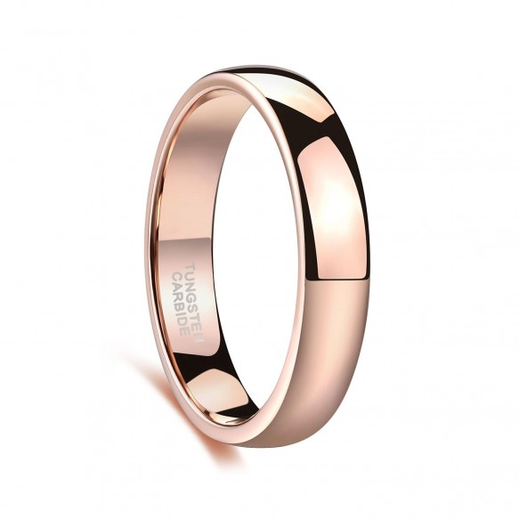 Rose Gold Tungsten Wedding Band