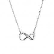 Classic Infinity Symbol 925 Sterling Silver Pendant Necklace