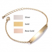 Rose Gold/Silver/Gold Fashion Lettering Titanium Steel Bracelets
