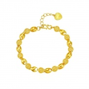Gold Plated Hollowed-Out Verve Vintage Bracelet
