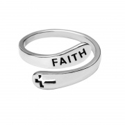 The Faith Ring In 925 Sterling Silver