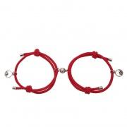 Simple 925 Silver Woven Couple Bracelet