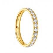Gold CZ Engagement Rings in Titanium