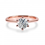 Rose Gold CZ Ring in Sterling Silver
