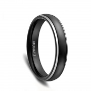 Black Domed Titanium Bands