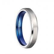 Silver Brushed Titanium Wedding Rings