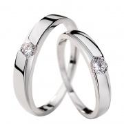 Eternal Love Simple 925 Sterling Silver Couple Rings