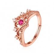 Rose Gold Princess Crown Rings