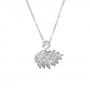 Silver/Rose Gold Little Swan Temperament Necklace