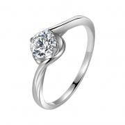 Single Srystal Flower Bud 925 Sterling Silver Rings