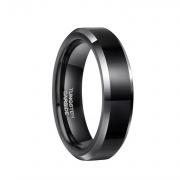 Black High Polished Tungsten Rings