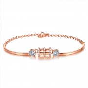 S925 Sterling Silver Simple Fashion Small Waist Bracelet