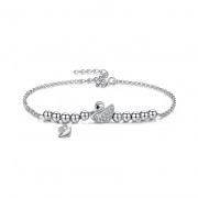 S925 Sterling Silver Swan Female Bracelet