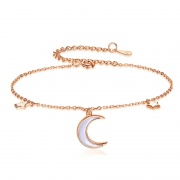 S925 Sterling Silver Star and Moon Bracelet
