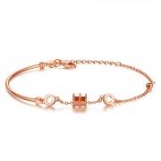 Women S925 Sterling Silver Cylinder Fashion Bracelet