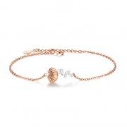 S925 Sterling Silver Shell Pearl Bracelet