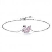 Sterling Silver Niche Design Swan Women Bracelet