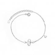 Women S925 Sterling Silver Dream Planet Bracelet