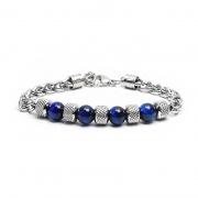 Tiger Eye Stone Adjustable Titanium Steel Bracelet