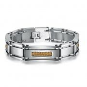 Fashionable Men's Wire Rope Double Row Bracelet