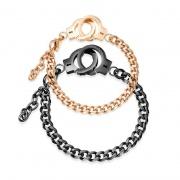 Personalized Titanium Steel Handcuffs Couple Bracelet