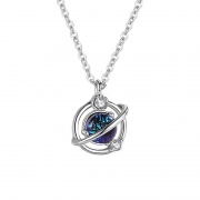 Sterling Silver Heart of the Galaxy Necklace
