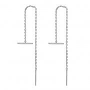 S925 Sterling Silver Simple Chain Earrings