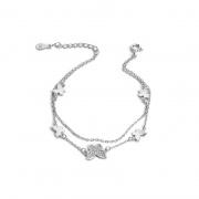 S925 Sterling Silver Double Butterfly Bracelet