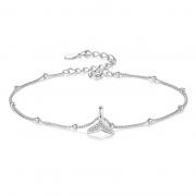 S925 Sterling Silver Mermaid Fishtail Bracelet
