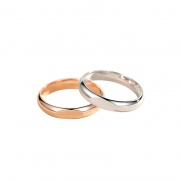 Sterling Silver Diffraction Projection 'LOVE' Rings