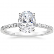 3CT 925 Sterling Silver Engagement Rings Oval Cut