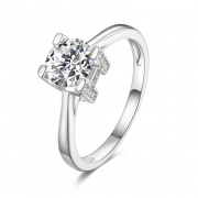 Moissanite Double-sided Letter WH 925 Sterling Silver Rings