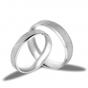 Fashion S925 Sterling Silver Frosted Couple Engagement Rings