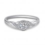 S925 Sterling Silver Line Winding Moissanite Diamond Rings